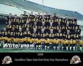 CFL 1963 Hamilton Tiger Cats Grey Cup Champion Color Team Picture 8 X 10 Photo - $5.99
