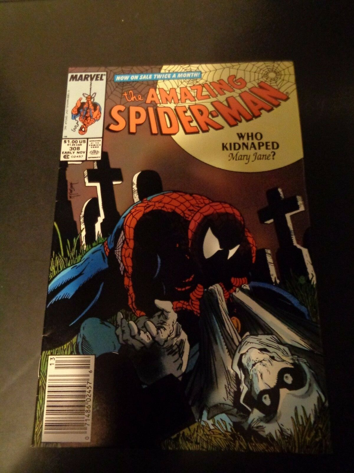 Amazing Spider-Man #308 Marvel Comic Book NM (9.0) Condition 1988 Todd McFarlane