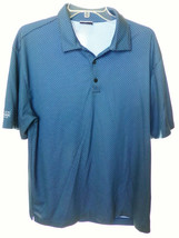 Nike Golf Blue Dry Fit POLO SHIRT Large L Short Sleeve, Lightweight - $14.00