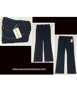 MLLE Penelope Women's Blue Jeans SZ 12 NWT Dark Blue Rhinestone Accent - $17.99