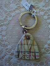 NWT/COACH/LEATHER/TATTERSALL/PEA COAT/IVORY/KEY FOB/KEY CHAIN/KEY RING/6... - $60.00
