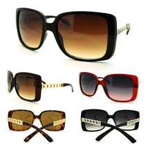 Womens Squared Butterfly Solid Metal Chain Temple Design Fashion Sunglasses - $7.95