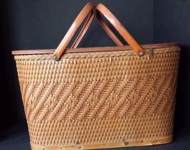 Vintage Redmon Picnic Basket Tan - $29.69