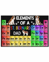 VibesPrints Elements Of A St Bernard Dad Horizontal Poster - Great Gift ... - $25.59+