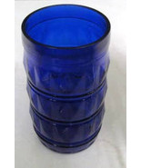 Vintage (1) Cobalt Blue Diamond Style Pattern Glass Tumbler - Made by Fr... - $14.99