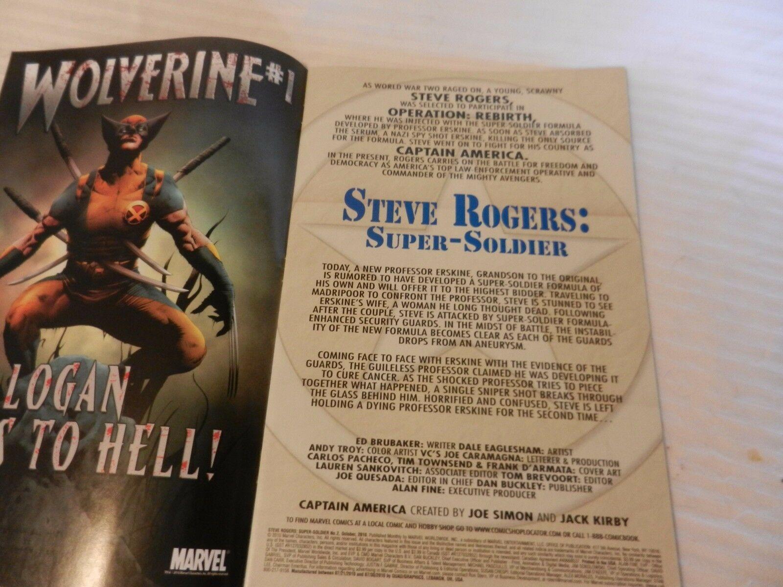The Heroic Age Steve Rogers Super-Soldier Marvel Comics #2 October 2010