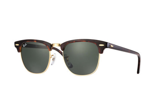 Neuf Ray-Ban Clubmaster RB3016 W0366 Faux Tortue / or avec / Vert G-15 49mm