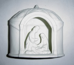 Vintage White Bisque Ceramic Nativity Scene Holy Family  Home Decor - $14.99
