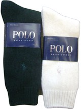 POLO RALPH LAUREN BLUE LABEL MEN'S SOCKS 1 PAIR WOOL BLEND WHITE 10-13 NEW - $44.75