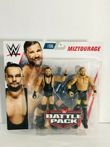 WWE Battle Pack Series Bo Dallas & Curtis Axel Series 56 Miztourage Acti... - $34.64