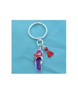 RED HAT Flip Flop and Dress Keychain Society Key Ring with Crystals - $4.15