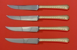 "Larkspur by Wallace Sterling Silver Steak Knife Set 4pc HHWS  Custom 8 1/2"" - $247.10"