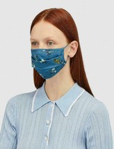 Coach Rexy Face Mask with Floral Print in Blue New with Tags - $38.61