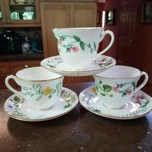 Royal Worcester ARCADIA Cup & Saucer (3) Flowers - $60.00