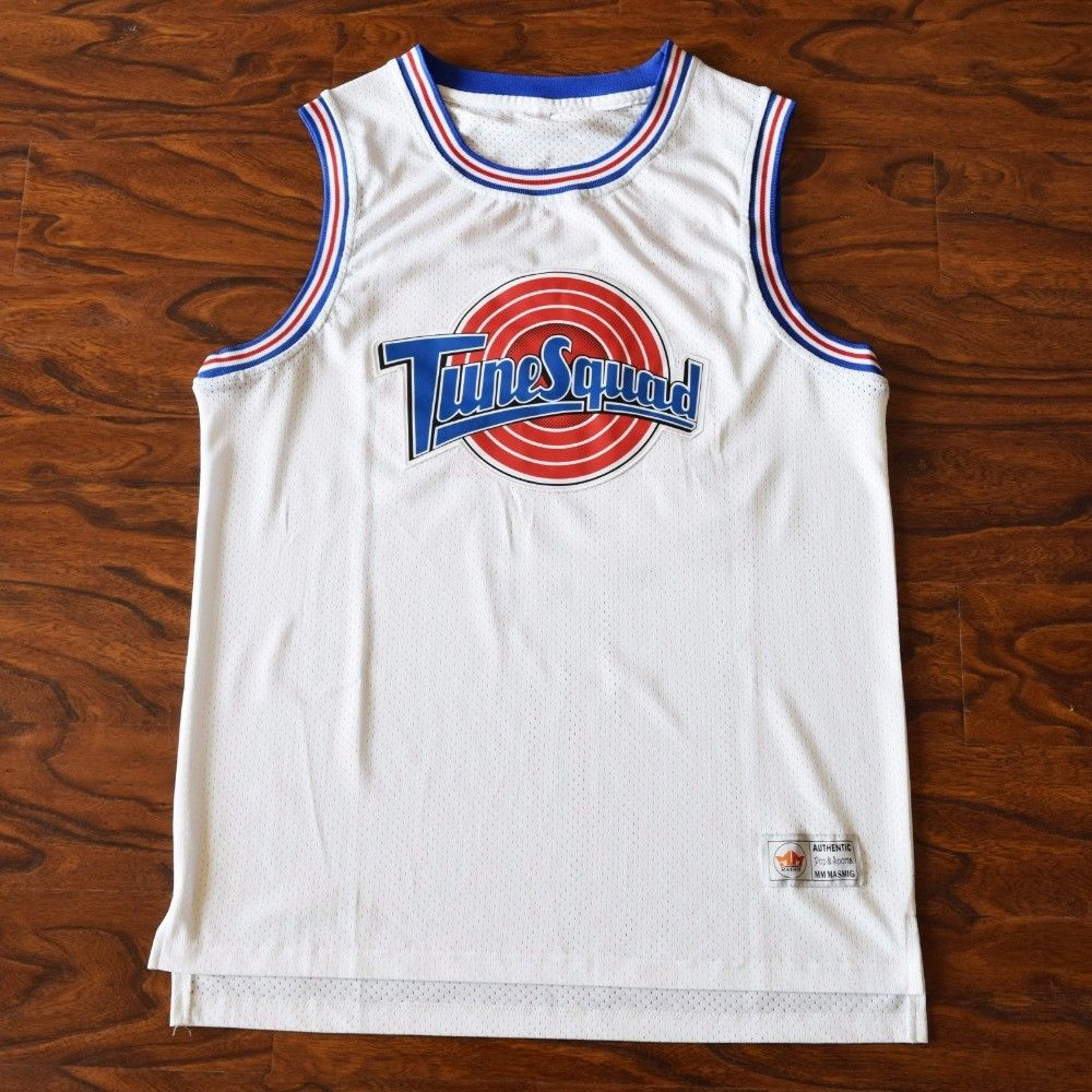 Custom Your Own Tune Squad Space Jam Basketball Jersey Black White Stitched  New c90a4b466