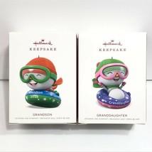 Hallmark Keepsake Christmas Ornaments Lot Grandson & Granddaughter 2018 ... - $19.95