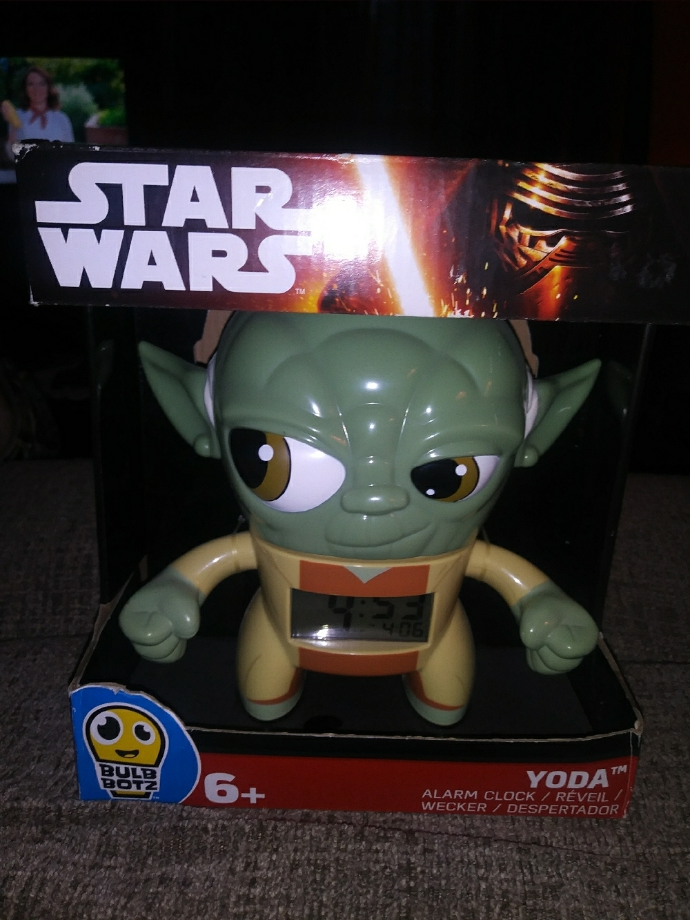 Primary image for star wars bulb botz yoda alarm clock clock
