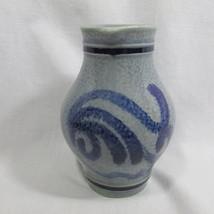 "Pitcher Salt Glazed Jug 0.125l Cobalt Blue Gray Germany 5"" Tall Marzi Re... - $38.98"