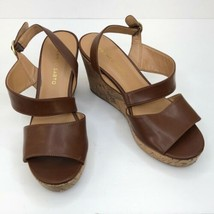 Women's Franco Sarto Brown Strappy Cork Wedges, Size 8 - $27.95