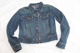GAP DARK BLUE WASH 100% COTTON  CLASSIC DENIM JEAN JACKET SIZE M - $18.81