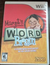 Margot's Word Brain (Nintendo Wii, 2008) Game Tested Working - $9.89