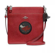 NWT COACH WIZARD OF OZ KITT MESSENGER CROSSBODY BAG RED/SILVER RUBY SLIP... - $183.10