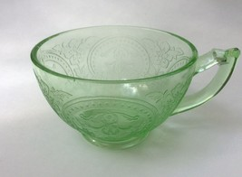 Indiana Green Depression Glass Horseshoe Cup s - $9.88