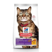Hill's Science Diet Dry Cat Food, Adult, Sensitive Stomach & Skin, Chick... - $15.74
