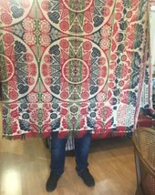 Antique 1850 Seifert Mechanicsburg PA Tied-Beiderwand Jacquard Coverlet ... - $1,799.99