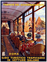 """16x20""""Poster on Canvas.Home Room Interior design.Travel Italy.Railroad.6569 - $46.75"""