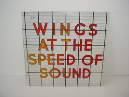 Paul McCartney and Wings At The Speed of Sound Record Lp Album Vinyl 33 rpm - $19.70