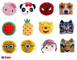 Kids Zoo Cartoon Novelty Plush Zipper Coin Purse Mini Wallet Buy More Sa... - $6.68+