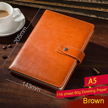 Brown PU Leather Lined Paper Diary Journal Business Notebook for Man and... - $22.87