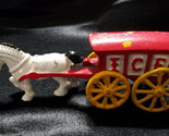 VINTAGE HUBLEY CAST IRON HORSE AND ICE WAGON