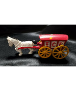 VINTAGE HUBLEY CAST IRON HORSE AND ICE WAGON - $27.00