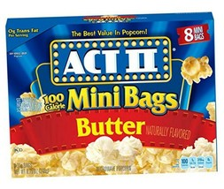 ACT II Popcorn, 100 Calorie Pack, Butter, 8-Count Mini-Bags (Pack of 6) - $17.81