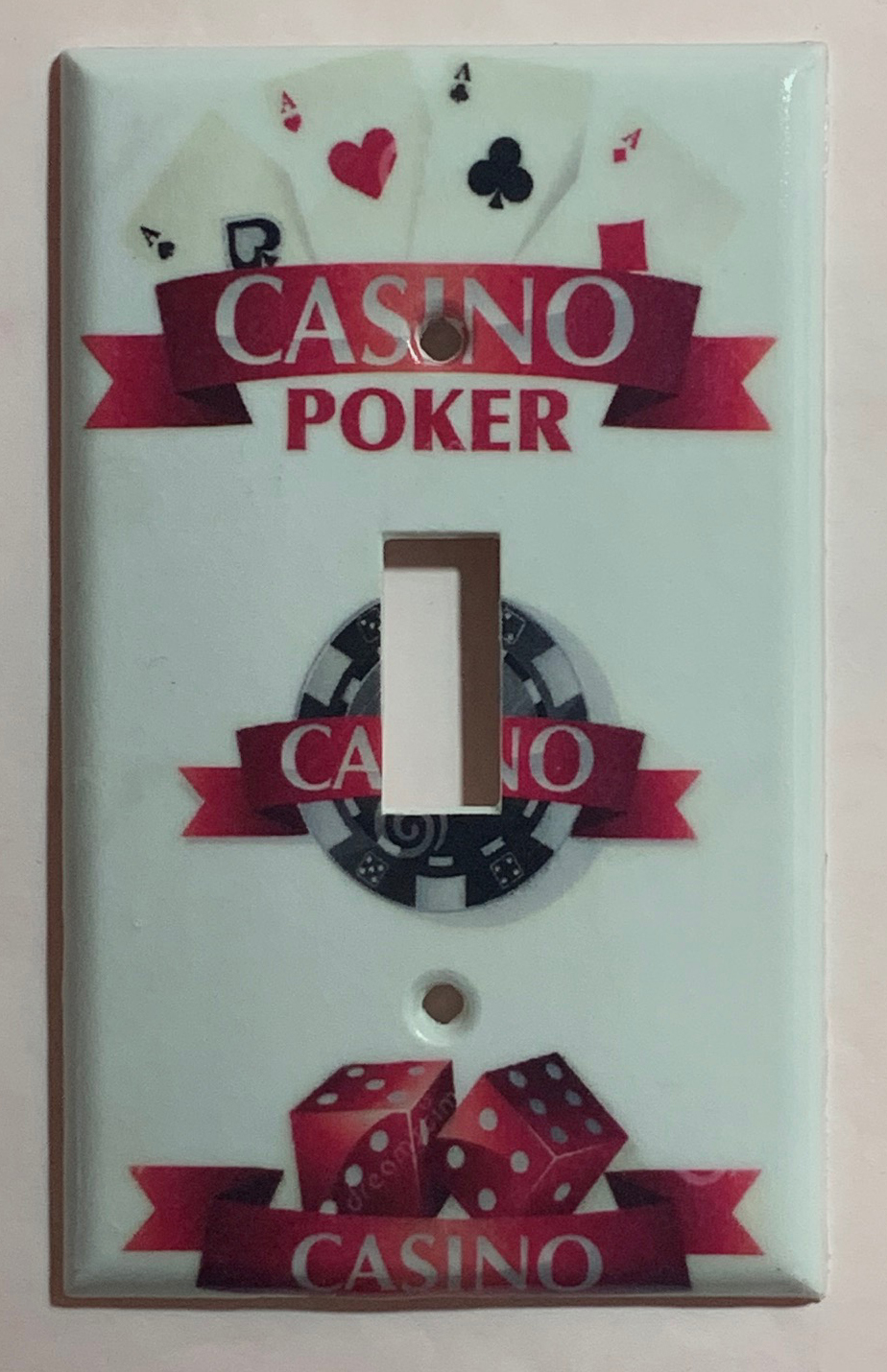 Casino Poker Game Light Switch Power outlet wall cover plate home decor