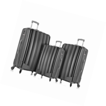 Rockland Barcelona 3 Polycarbonate/Abs 6 Pc. Travel Set and Luggage Cove... - $137.26