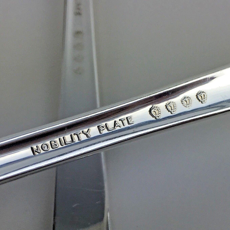 Oneida Caprice Silverplate Silverware Flatware 56 Pcs 8 Set Nobility Plate Vtg