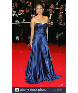 Max Azria ATELIER Dress Blue GOWN celebrity collectible WORN BY Tracie T... - $1,382.34