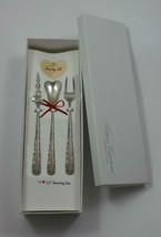 "Candlelight by Towle Sterling Silver ""I Love You"" Serving Set 3pc Custom Made - $175.50"
