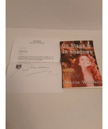 On Stage & In Shadows A Career Memour Marie Wallace Signed Book And Insert - $22.76