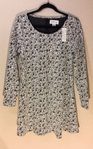 ISANI for Target Black Ivory Fit and Flare Floral Dress NWT MEDIUM M - $9.74