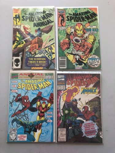 Lot of 4 Amazing Spider-Man (1963 1st Series) Annual #18 20 25 27 B VF Very Fine