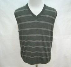 BROOKS BROTHERS Mens Gray 100% Merino Wool Sweater Vest (Size Large) Sle... - $14.95