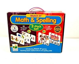The Learning Journey-Math & Spelling Match It-50 Puzzle Sets 2-Pack Set NEW - $24.99