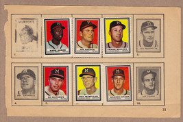 LOT OF 6: 1962 Topps stamps Milwaukee Braves on album page Aaron Spahn Mathews - $29.95