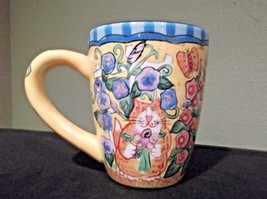 "Catzilla Garden Mug by Candace Reiter Designs Measures 4 1/2"" tall 2004 - $18.99"