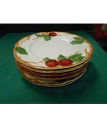 "Beautiful FRANCISCAN ""Apple"" Set of 7 BREAD-SALAD-DESSERT  Plates 7.75"" - $41.17"