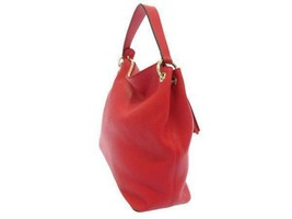 GUCCI Shoulder Bag Leather Red 2Way Soho Interlocking G 536194 Italy Authentic image 2